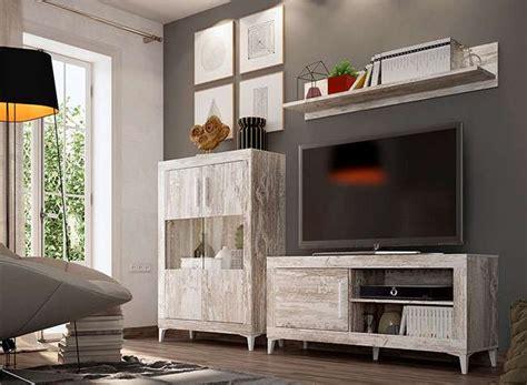 Muebles salón módulo TV, estante colgar y armario estilo ...
