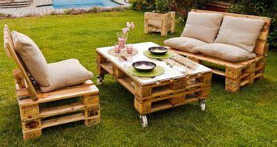 Mueblesdepalets.net: Jardín amueblado con muebles de ...
