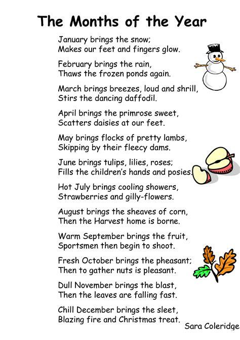 mundo infantilandia: MONTHS OF THE YEAR   Poemas de ...