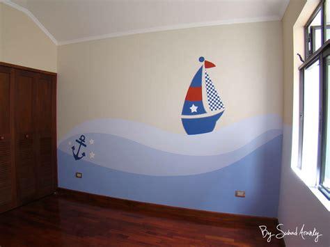 Murales en Dormitorios: Cuarto niño  Barcos