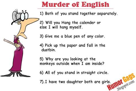 Murder of English !! ~ Humor Gags