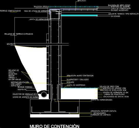 Muro contencion en AutoCAD | Descargar CAD  14.81 KB ...