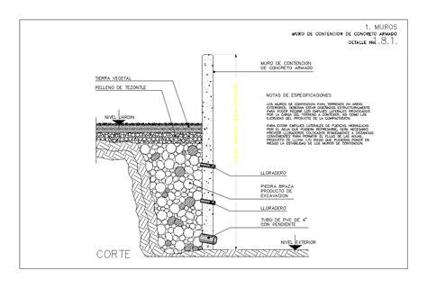 Muro de contencion de concreto armado  112.71 KB  | Bibliocad