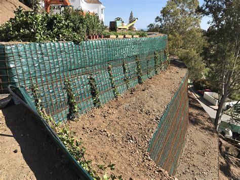 Muro De Contención Ecológico Verde Marbella Con Geomallas ...