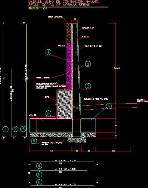 Muro de contencion en AutoCAD | Descargar CAD  28.08 KB ...
