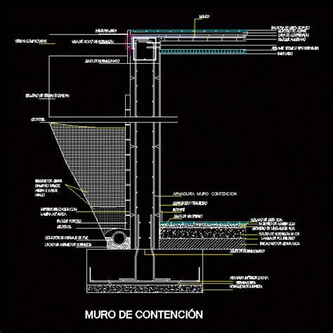 Muro de contencion en AutoCAD | Descargar CAD gratis  35 ...