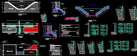Muro de contencion en AutoCAD | Descargar CAD gratis  890 ...