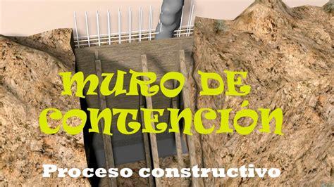 Muro de contención perimetral   Proceso Constructivo   YouTube