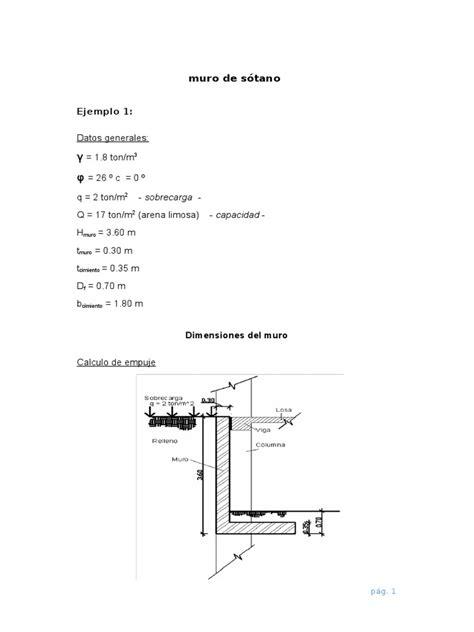 Muro de Sotano   Ejemplo 1   Física   Mecánica