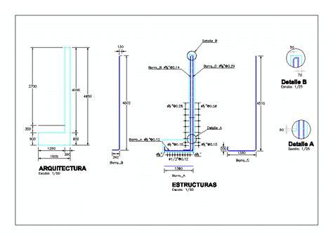Muro sotano . en AutoCAD | Descargar CAD gratis  502.7 KB ...