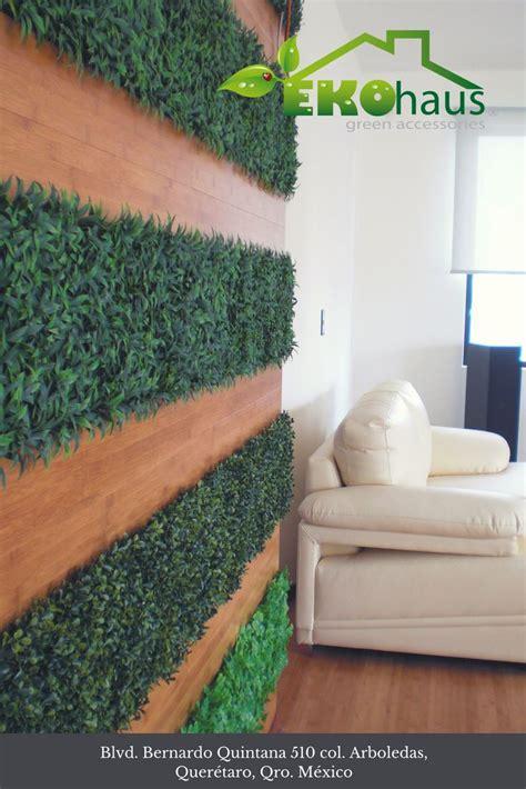 Muro verde con madera. Especialidades Eko Haus   Muros ...