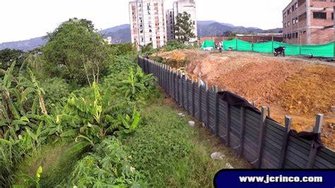 Muros de Contención Autoportantes JERINCO   Colegio Itaguí ...