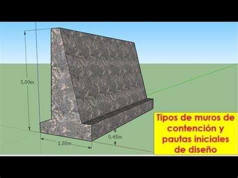 Muros de contención   Tipos y su dimensionamiento   YouTube