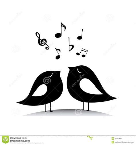 Music Birds Royalty Free Stock Image   Image: 32980446