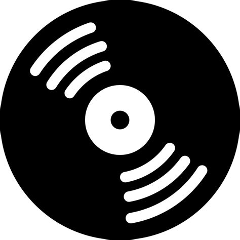 Music Disc With White Details Svg Png Icon Free Download ...