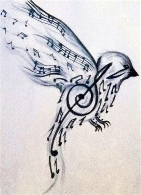 Music note bird wrist tattoo   Music notes tattoo, Music ...