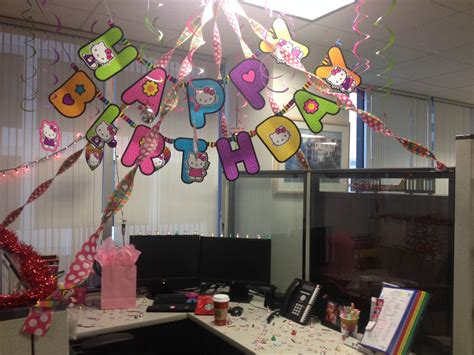 My birthday cubicle hello kitty | Randomness ideas ...