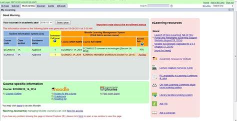 My eLearning Tab @ HKU Portal | Information Technology ...