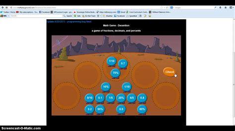 My Screencast  Mathplayground: Decention   YouTube