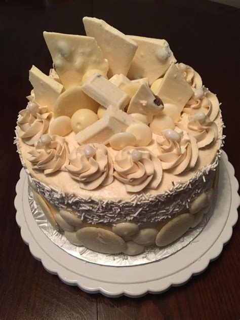 My son asked me to make a white chocolate birthday cake ...