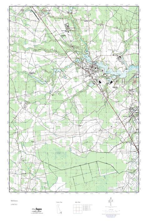 MyTopo Millsboro, Delaware USGS Quad Topo Map