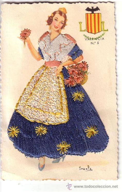 nº 1311 postal traje tipico cosida con hilo val   Comprar ...