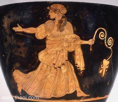 Naiad Nymph   Ancient Greek Vase Painting