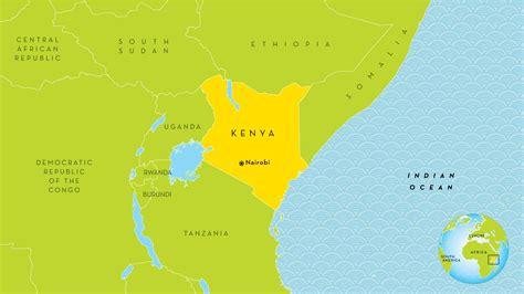 Nairobi Kenya map   Nairobi Kenya on map  Eastern Africa ...