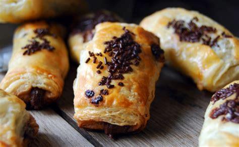 Napolitanas de chocolate   Recetas con hojaldre