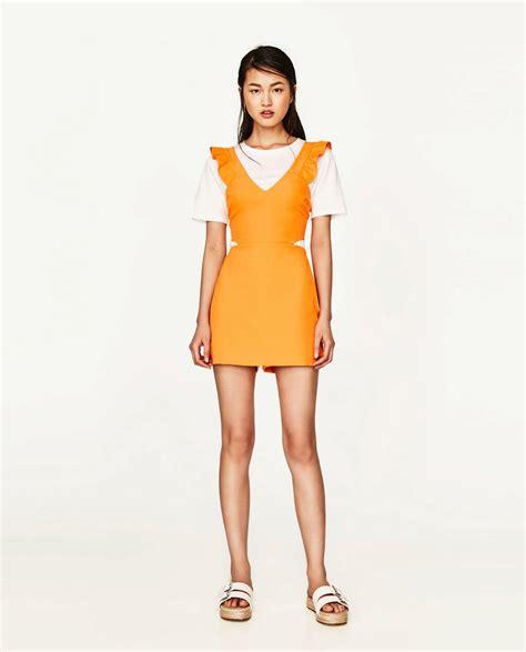 Naranja ácida | Zara: monos cortos, tendencia del verano ...
