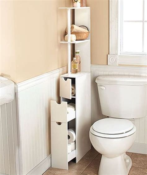 Narrow Bathroom Cabinet as A Wonderful Storage in Your ...