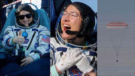 NASA   así fue el aterrizaje de la astronauta Christina ...