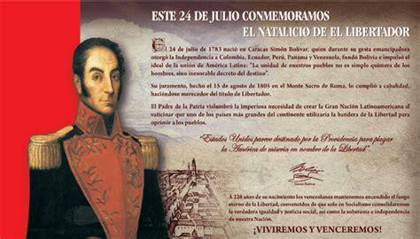 Natalicio del Libertador Simón Bolivar
