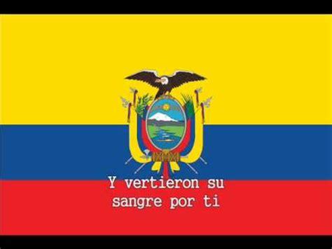 National Anthem of Ecuador Instrumental with lyrics   YouTube