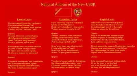 National Anthem of the New USSR by RedRich1917 on DeviantArt