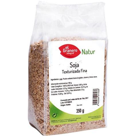 Natur soja texturizada fina envase 350 g · EL GRANERO ...
