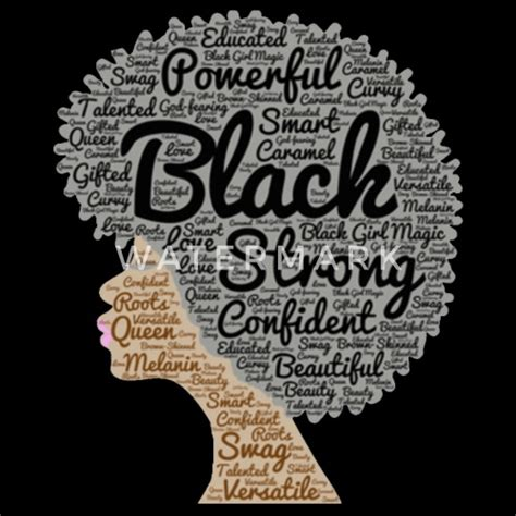 Natural Hair Afro Word Art for Strong Black women by ...
