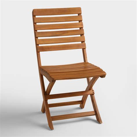 Natural Wood Mika Folding Chairs Set of 2 | World Market