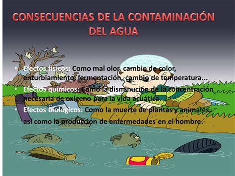 naturales la contaminacin del agua la contaminacin del ...