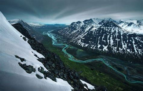 nature, Landscape, Mountain, Snow, River, Valley, Snowy ...