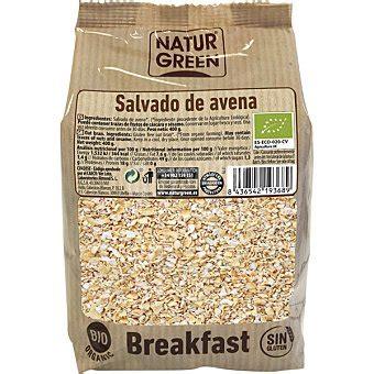 Naturgreen Salvado de avena ecológico sin gluten bolsa 400 g
