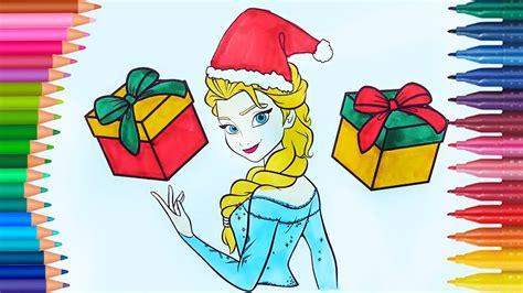 Navidad de pintar | Frozen Elsa | Dibujos Para Niños ...