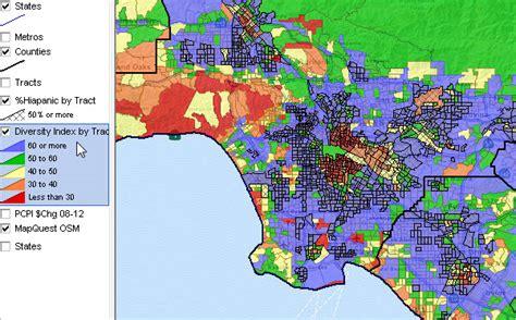 Neighborhood Diversity Census Tract Los Angeles