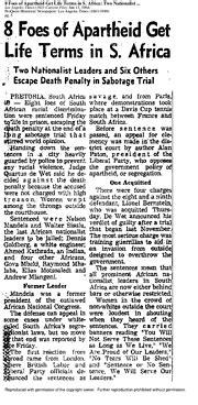 Nelson Mandela: 27 years in prison   Documents   Los ...