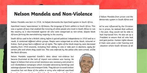 Nelson Mandela and Non Violence Information Sheet