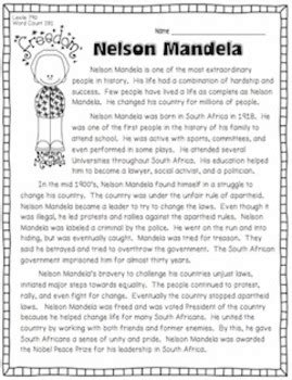 Nelson Mandela and South Africa {3 Passages w/ Questions ...