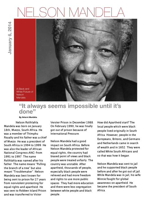 Nelson mandela article by Eileen Chen   Issuu