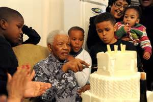 Nelson Mandela cuts the cake on his 92nd birthday   ABC ...