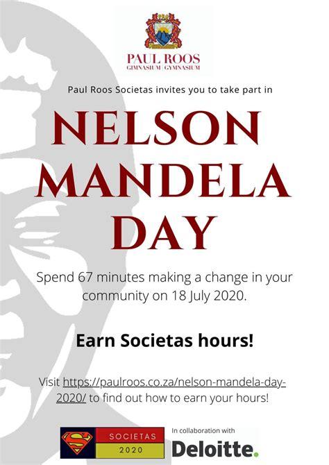 » Nelson Mandela Day 2020   Paul Roos Gimnasium – Gymnasium