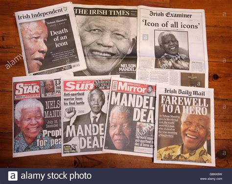 Nelson Mandela death Stock Photo: 107382321   Alamy